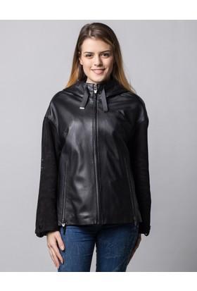 Deriderim K-18357 Kadın Siyah Ceket
