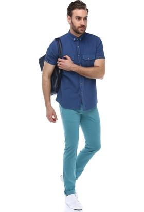 Brango 50133-3 Dar Kalıp Mint Yeşil Pantolon