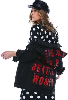 Denimakinası Kadın Siyah Ceket