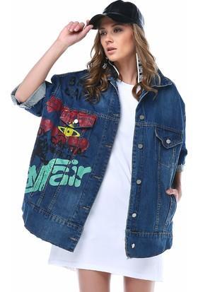 Denimakinası Kadın Mavi Ceket