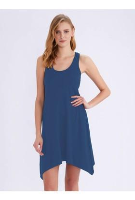 Ayyıldız 59344 Kalın Askılı Penye Elbise Indıgo