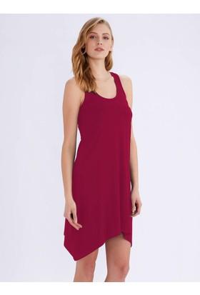 Ayyıldız 59344 Kalın Askılı Penye Elbise Vişne