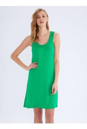 Ayyıldız 59431 Geniş Askılı Penye Elbise Yeşil