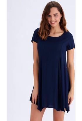 Ayyıldız 59481 Yuvarlak Yakalı Elbise Lacivert