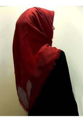 Gülsoy Pamuklu Kırmızı Gofret Eşarp