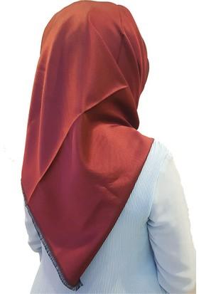 Gülsoy Düz Kırmızı Rayon Eşarp Başörtüsü