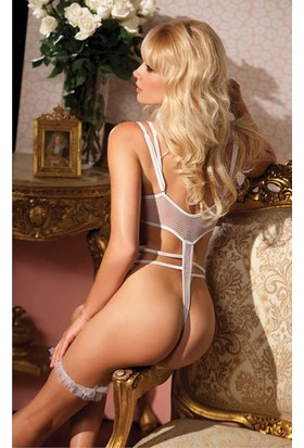 Mite Love Babydoll Beyaz Fantazi Giyim ML1237