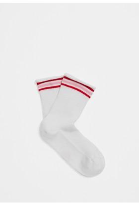 Mavi Beyaz Çorap