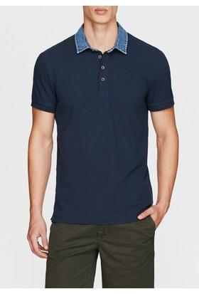 Mavi Denim Yaka Lacivert Polo Tshirt