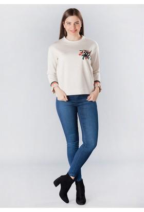 Femme Önü Çiçekli Bluz