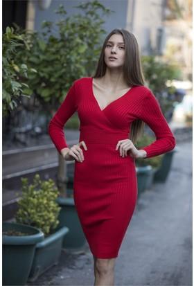 Femme Kruvaze Triko Elbise