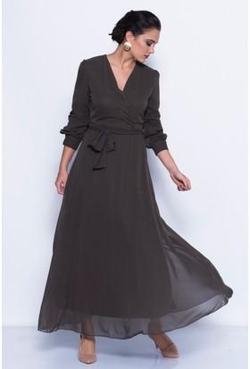 İroni 5813-308 Kadın Elbise Haki