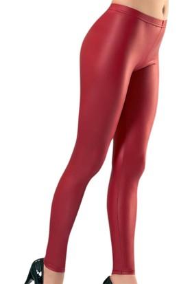 Derya Kurşun K13-0446 Leather Effect Fashion Tayt