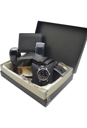 Casio Kol Saati Seti Lüx - Parfüm - Kemer - Cüzdan - Tesbih - Çakmak Ecps-73