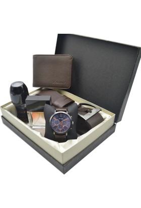 Spectrum Erkek Kol Saati Seti - Spectrum Saat - Avon Parfüm - Kemer - Cüzdan Ess-53