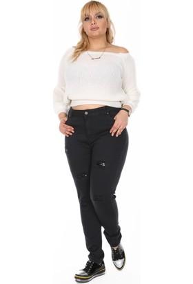RMG Pul Payet Detaylı Kot Pantolon Siyah