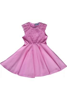 a9709ef26aa0c DobaKids İncili Omzu Dantelli Kız Çocuk Elbise - Çocuk Elbiseleri