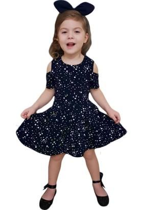 DobaKids Omuz Dekolteli Kız Çocuk Elbise