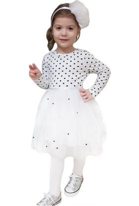 DobaKids Kız Çocuk Puanlı Tütü Etekli Elbise