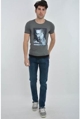 Rodin Hills Mavi Erkek Kot Pantolon Kemerli 882