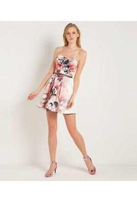 Home Store Elbise Ekru 48276
