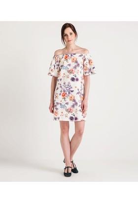 Home Store Elbise Ekru 48435