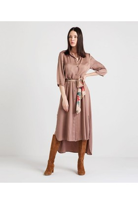 Home Store Elbise Koyu Gri 49187