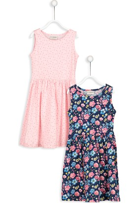 LC Waikiki Kız Çocuk Elbise 2'li