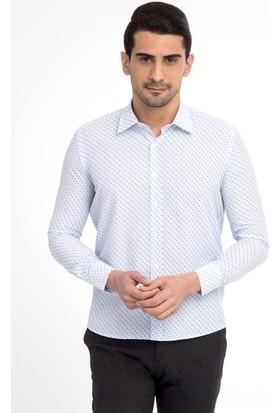 Kiğılı Uzun Kol Slim Fit Tasarım Gömlek