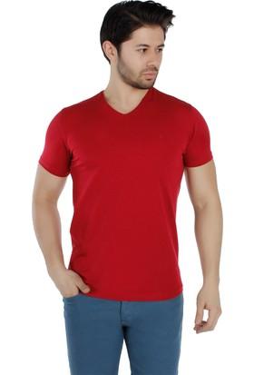 Brango 40156-6 V Yaka Bordo T-Shirt