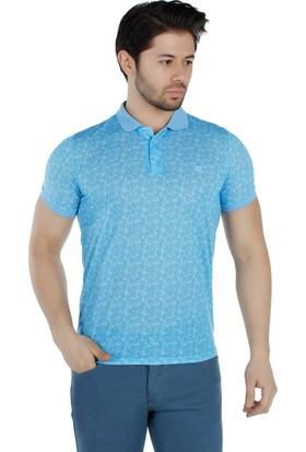 Brango 40161-4 Polo Yaka Turkuaz T-Shirt
