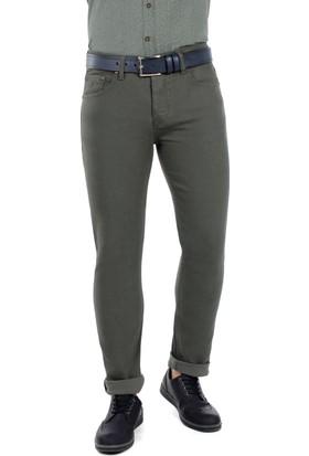 Brango 55132-4 Dar Kesim Yeşil Kot Pantolon