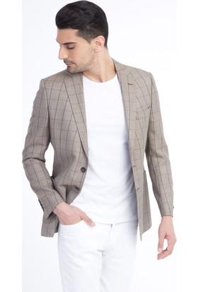 Kiğılı Bambu Kareli Ceket