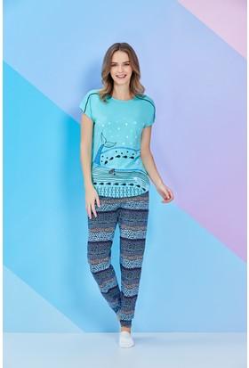 Roly Poly Kısa Kollu Kadın Pijama Takımı