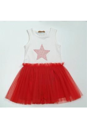 Serkon 4946 Yıldızlı Elbise Kız Çocuk