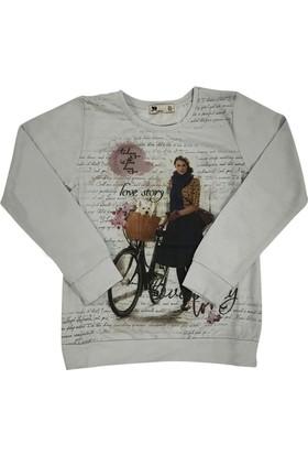 Misstufy 17082 Love Kız Çocuk Sweatshirt