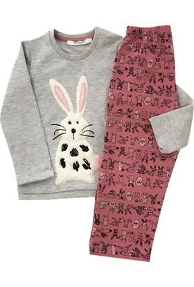 RolyPoly 1161 Tavşanlı Kız Çocuk Pijama Takımı