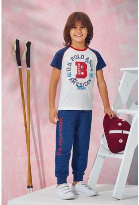 Us Polo Assn Erkek Çocuk Pijama Takımı Ekru