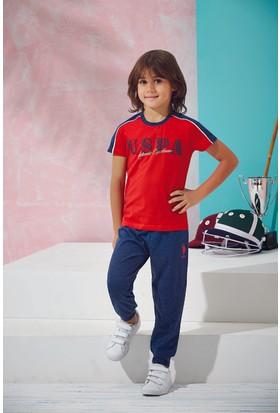 Us Polo Assn Erkek Çocuk Pijama Takımı Kırmızı