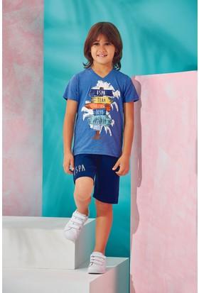 Us Polo Assn Erkek Çocuk Bermuda Takım İndigo