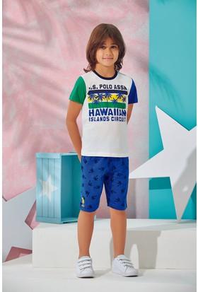 Us Polo Assn Erkek Çocuk Bermuda Takım Ekru