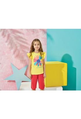 Us Polo Assn Kız Çocuk Kapri Takım Sarı