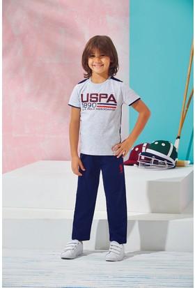 Us Polo Assn Genç Erkek Pijama Takımı Gri