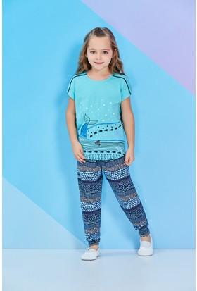 RolyPoly Kısa Kollu Genç Kız Pijama Takımı Mint