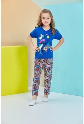 Roly Poly Kısa Kollu Kız Garson Pijama Takımı