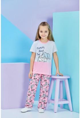 Bugs Bunny Lisanslı Kız Çocuk Pijama Takımı Gri