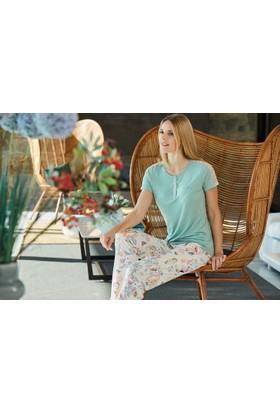 Pierre Cardin Kadın Pijama Takımı Yeşil