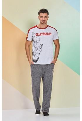 Galatasaray Lisanslı Erkek Pijama Takımı Gri