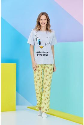 Roly Poly Tweety Kadın Pijama Takımı