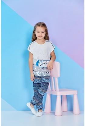 Roly Poly LisanslıKısa Kollu Kız Çocuk Pijama Takımı